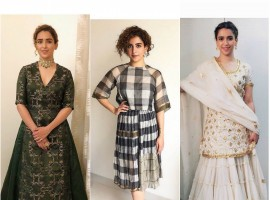 Dangal actress Sanya Malhotra's fashion is a perfect epitome of a thousand 'Pataakha'
