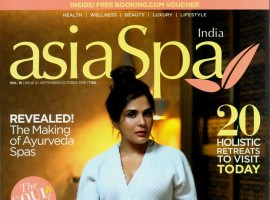 Richa Chadha graced the cover of the September issue of Asia Spa magazine