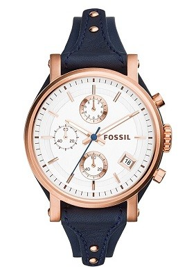 Fossil Original Boyfriend Analog Silver Dial Watch for Women
