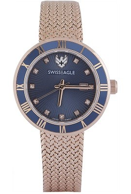 Swiss Eagle Analog Blue Dial Watch