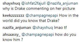 Drake calls Athiya Shetty's father legend