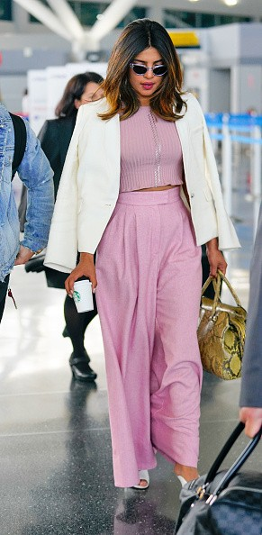 Priyanka Chopra,Priyanka Chopra and Nick Jonas,Nick Jonas,Nick Jonas with Priyanka Chopra,Priyanka Chopra at JFK airport,JFK airport,celebs at JFK airport