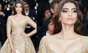 Sonam Kapoor attends the 'The Killing Of A Sacred Deer' screening during the 70th annual Cannes Film Festival at Palais des Festivals on May 22, 2017 in Cannes, France.