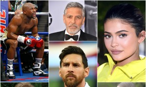 Another year, and Forbes has released yet another list enumerating the highest paid celebrities in the world. Boxer Floyd Mayweather Jr. has emerged as the highest paid celebrity with $285 million earnings, edging out George Clooney to the second position. Here are the top 25 rich celebrities, as per Forbes' annual list for 2018.