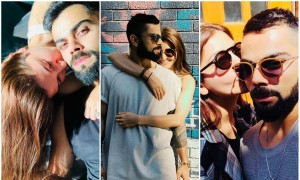 Anushka Sharma and Virat Kohli set the internet on fire with their cute pics