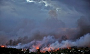 The wildfire destroys almost everything in Athens