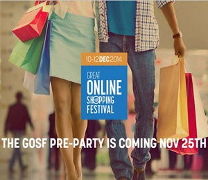 GOSF online shopping carnival, 10-12th December, 2014