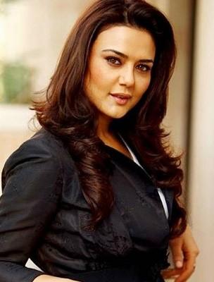 Preity Zinta in loose wavy hair