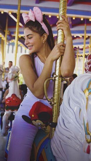 Jacqueline Fernandez,actress Jacqueline Fernandez,Jacqueline Fernandez at Disneyland,Dabangg reloaded,Dabangg tour,Salman Khan,Salman Khan nephew,salman khan nephew Ahil