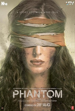 Phantom Movie Poster,Phantom,Phantom first look,Phantom Movie Poster poster,Saif Ali Khan,Katrina Kaif,Saif Ali Khan and Katrina Kaif