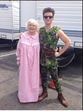 Chris Colfer with June Squib