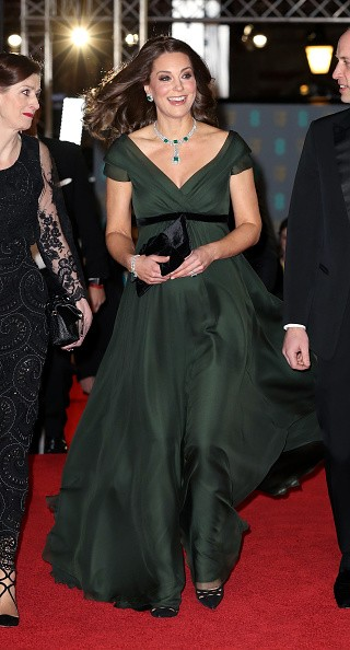 Kate Middleton,actress Kate Middleton,Kate Middleton defies black dress code,Kate Middleton at Bafta Awards 2018,Bafta Awards 2018,Kate Middleton pics,Kate Middleton wallpaper