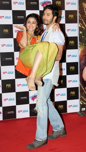 Varun Dhawan and Alia Bhatt at Tralier launch of upcoming film 'Humpy Sharma Ki Dulhania'