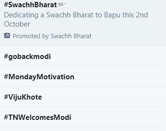 #gobackmodi twitter trend