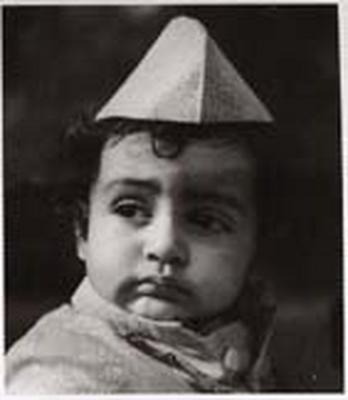 Amitabh Bachchan when he was very little.