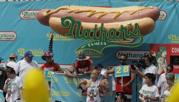 Joey Chestnut,athan's Famous Hot Dog Eating Contest,Joey Chestnut Nathans,Joey Chestnut eating contest,hot dog eating contest,Nathan's Fourth of July Hot Dog