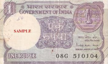 1 Indian Rupee