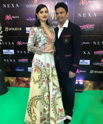 Bhushan Kumar and Divya Khosla Kumar,Divya Khosla,Bhushan Kumar,IIFA 2018,IIFA 2018 green carpet,IIFA 2018 green carpet pics,IIFA 2018 green carpet images,IIFA 2018 green carpet stills,IIFA 2018 green carpet pictures,IIFA 2018 green carpet photos
