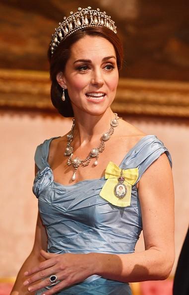 Kate Middleton,Princess Diana,Diana,Tiara,Princess Diana tiara,Kate Middleton wears Tiara,Buckingham Palace,Kate Middleton at Buckingham Palace,Kate Middleton at state dinner