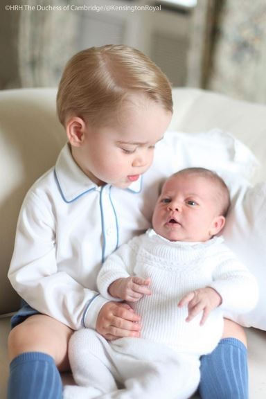 Prince George with little sister Princess Charlotte