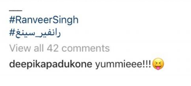 Deepika Padukone comment on Ranveer Singhs Picture