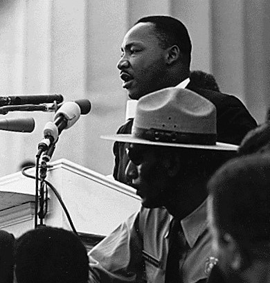 Martin Luther King, Jr. delivering