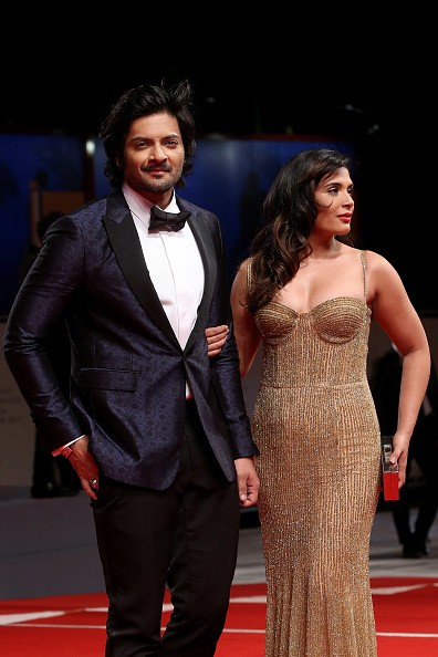 Ali Fazal,Richa Chadha,Ali Fazal and Richa Chadha,Victoria and Abdul,Venice Film Festival,Venice Film Festival 2017,Venice Film Festival 2017 red carpet,Venice Film Festival red carpet,74th Venice Film Festival