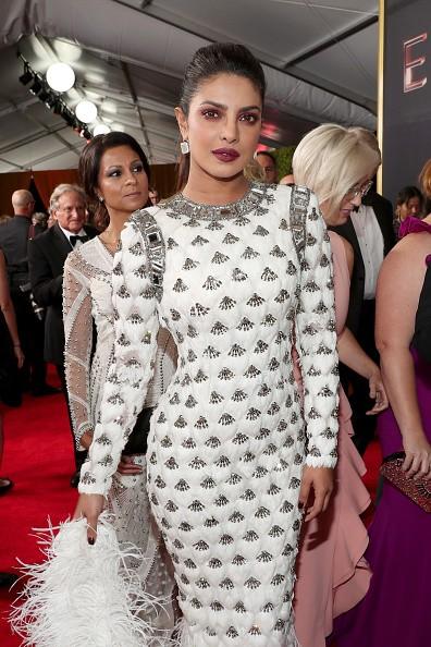 Emmy Awards 2017,Emmy Awards,Priyanka Chopra dazzles in white,Priyanka Chopra,Priyanka Chopra at Emmy Awards 2017,Priyanka Chopra at Emmy Awards