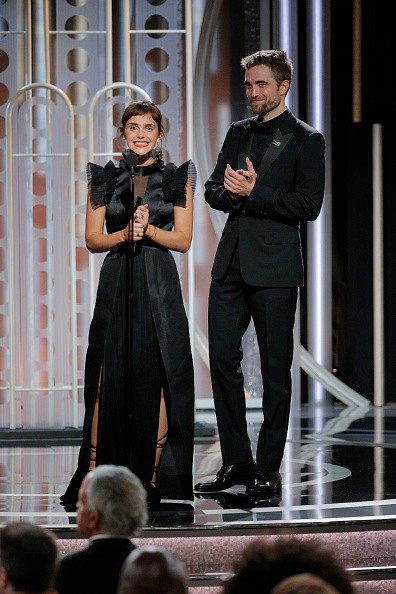 Emma Watson and Robert Pattinson,Emma Watson,Robert Pattinson,Harry Potter reunion,Harry Potter,Golden Globes 2018