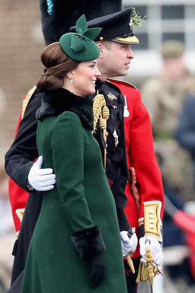 Catherine,Duchess,St Patrick's Day Parade,St Patrick's Day,St Patrick's Day Parade pics,St Patrick's Day Parade images,Prince William,Duke,pregnant Kate