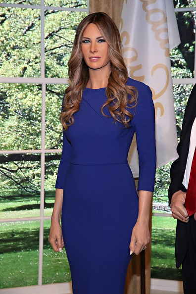 Melania Trump,Melania Trump wax Figure,Melania Trump wax statue,Melania Trump wax,Melania Trump at Madame Tussauds,Madame Tussauds