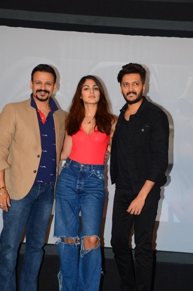 Vivek Oberoi,Riteish Deshmukh,Rhea Chakraborty,Bank Chor,Bank Chor promotion,Bank Chor movie promotion,Bank Chor promotion pics,Bank Chor promotion images,Bank Chor promotion stills,Bank Chor promotion pictures