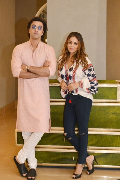 Ranbir Kapoor visits Gauri Khan,Ranbir Kapoor,Gauri Khan,Gauri Khan's design store,Gauri Khan design store