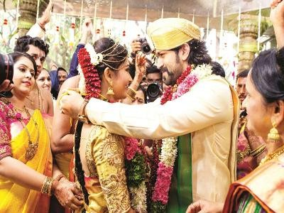 Yash and Radhika Pandit's wedding pictures - Photos,Images
