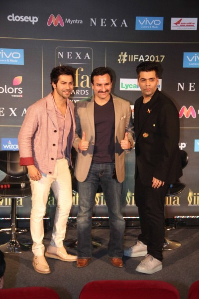 IIFA Awards 2017,IIFA Awards,IIFA Awards Press Conference,Varun Dhawan,Saif Ali Khan,Karan Johar,IIFA Awards 2017 Press Conference