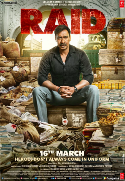 Ajay Devgn,Ileana D'Cruz,Saanand Verma,Raid,Raid poster,Raid movie poster,Raid wallpaper,bollywood movie,bollywood movie raid,Ajay Devgn Raid