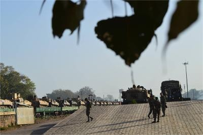 Indian Army Tanks being loaded up in trains