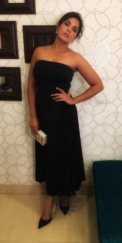 Richa Chadha,actress Richa Chadha,Richa Chadha at Amazon Prime's Inside Edge,Amazon Prime's Inside Edge,Richa Chadha in black dress