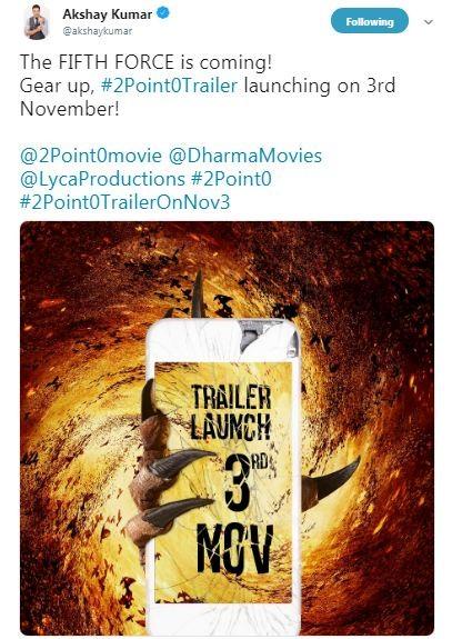 2.0 trailer,2.0 movie trailer,2.0 trailer release,Akshay Kumar,Rajinikanth,Rajinikanth and Akshay Kumar,2.0,2.0 release date,2.0 pics,2.0 images,2.0 stills,2.0 pictures