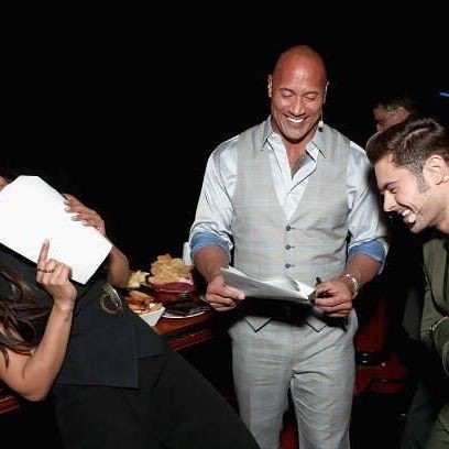 Dwayne Johnson,Priyanka Chopra,The Rock,CinemaCon,Baywatch team,Baywatch,Baywatch team at CinemaCon,CinemaCon pics,CinemaCon images,CinemaConstills,CinemaCon pictures