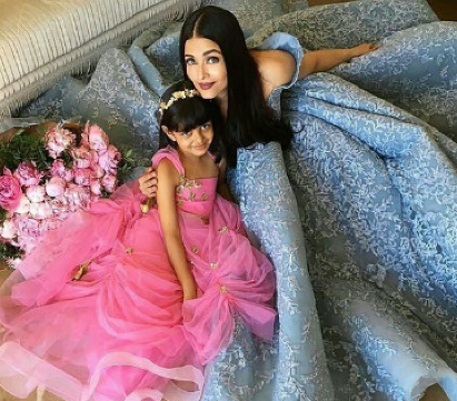 Aishwarya and Aaradhya at Cannes