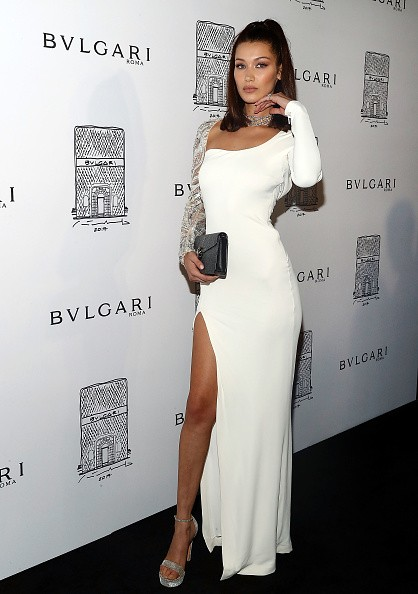 Bella Hadid,model Bella Hadid,Bella Hadid flaunts her sensational figure,Bella Hadid at BVLGARI flagship reopening,BVLGARI flagship reopening,Bulgari Celebrates 5th Avenue Flagship Store Opening