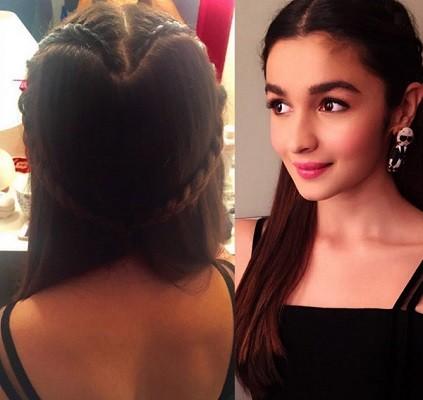 Alia Bhatt in heart braid