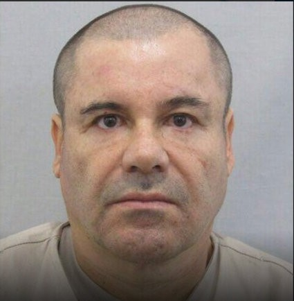 A mugshot of El Chapo Guzman released by the Mexican authorities.