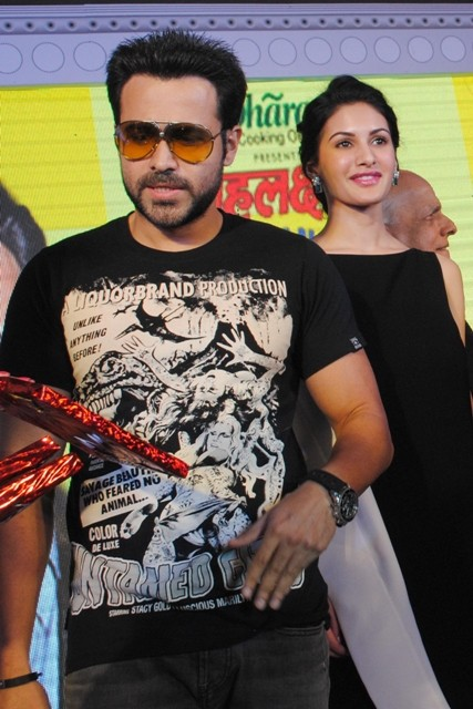 Emraan Hashmi and Amyra Dastur promote their upcoming film 'Mr. X' in New Delhi.