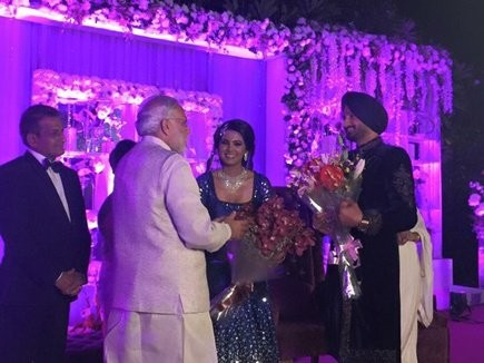 Harbhajan Singh,Harbhajan Singh wedding reception,Harbhajan Singh and Geeta Basra Grand Reception,Geeta Basra Grand Reception,Geeta Basra,harbhajan singh geeta basra wedding,Virat Kohli