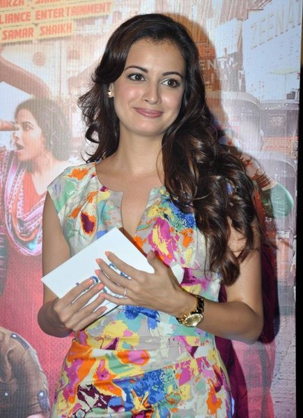 Dia Mirza at the ttrailer launch of film 'Bobby Jasoos' at an event in PVR, Juhu, Mumbai
