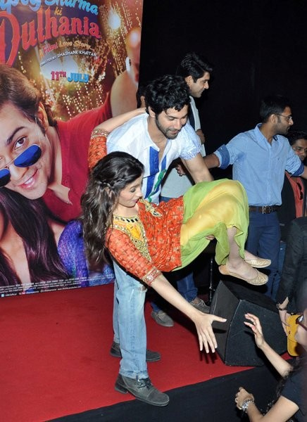 Varun Dhawan and Alia Bhatt at Trailer launch of upcoming film 'Humpy Sharma Ki Dulhania'
