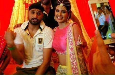 Harbhajan Singh,Geeta Basra,Harbhajan Singh and Geeta Basra's mehendi ceremony,Harbhajan Singh and Geeta Basra,Harbhajan Singh mehendi ceremony,Geeta Basra mehendi ceremony,Harbhajan Singh marriage,Harbhajan Singh wedding,Geeta Basra marriage,Geeta B