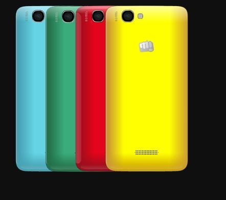 Micromax Canvas 2 Colours with Swappable Shell Covers Listed Online